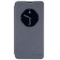 Полиуретановый чехол книга Nillkin Sparkle Leather Case Black для LG X View [K500DS] \ X Screen