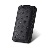 Чехол Melkco Leather Case Ostrich Pattern Black для Samsung i9100 Galaxy S2