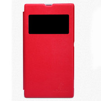 Кожаный чехол Nillkin Leather Stylish Red для Sony Xperia Z1 L39h