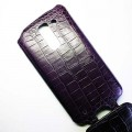 Кожаный чехол Abilita Leather Case Purple Crocodile для LG Optimus G Pro 2 D837(#3)
