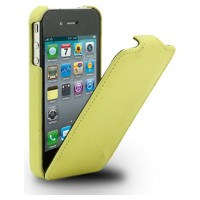Кожаный чехол Melkco Leather Case Yellow LC для Apple iPhone 4/4S