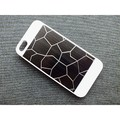 Пластиковый чехол Broken line White/Black для Apple iPhone 5/5S/5SE(#1)