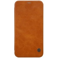 Кожаный чехол Nillkin Qin Leather Case Brown для Apple iPhone X