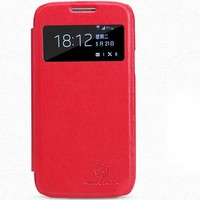 Кожаный чехол Nillkin Stylish Leather Case Red для Samsung i9190 Galaxy S4 mini