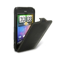 Кожаный чехол книга Melkco Leather Case Black LC для HTC Incredible S