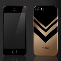 Пластиковый чехол More Metallic Series Gold для Apple iPhone 5/5S/5SE