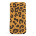 Кожаный чехол Nuoku Leopard Series Case Brown для Apple iPhone 4/4S(#1)