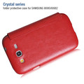 Кожаный чехол HOCO Crystal leather Case Red для Samsung i9082 Galaxy Grand Duos(#2)