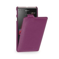 Кожаный чехол Melkco Leather Case Purple LC для Sony Xperia M/C1905 Dual