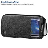 Кожаный чехол-книга HOCO Crystal leather Case Black для Samsung i9190 Galaxy S4 mini