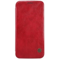 Кожаный чехол Nillkin Qin Leather Case Red для Samsung G920F Galaxy S6