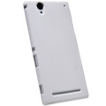 Пластиковый чехол Nillkin Super Frosted Shield White для Sony Xperia T2 Ultra Dual(#4)