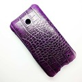 Кожаный чехол Abilita Leather Case Purple Crocodile для Nokia Lumia 630(#3)