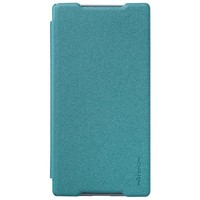 Полиуретановый чехол Nillkin Sparkle Leather Case Blue для Sony Xperia Z5