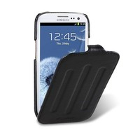 Кожаный чехол Melkco Prime Verti Black Wax Leather для Samsung i9300 Galaxy S3