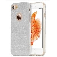 Силиконовый чехол Usams Bling Series Silver для Apple iPhone 7/iPhone 8