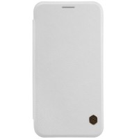 Кожаный чехол Nillkin Qin Leather Case White для Samsung Galaxy E7