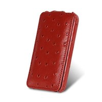Кожаный чехол Melkco Leather Case Ostrich Pattern Red для Samsung i9100 Galaxy S2