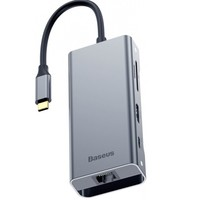 USB-концентратор Baseus Square Desk RJ45 CATXF-0G (Deep Grey)