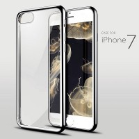 Силиконовый бампер KissWill TPU Case Silver/Transparent для Apple iPhone 7/iPhone 8