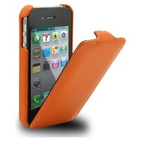 Кожаный чехол Melkco Leather Case Orange LC для Apple iPhone 4/4S
