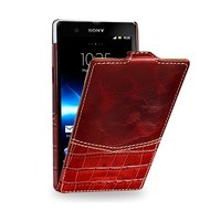 Кожаный чехол TETDED Venus Series Burgundy Red для Sony Xperia Z L36h