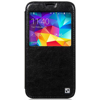 Кожаный чехол HOCO Crystal leather Case Black для Samsung G900F Galaxy S5