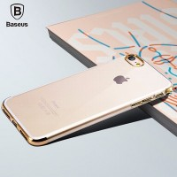 Силиконовый бампер Baseus Shining Case Gold для Apple iPhone 7/iPhone 8