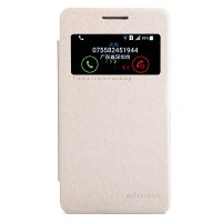 Полиуретановый чехол Nillkin Sparkle Leather Case Gold для Samsung G355H Galaxy Core 2 Duos