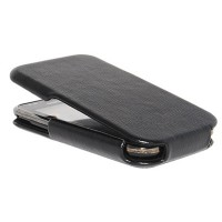 Кожаный чехол книга HOCO Leather Case Black для Samsung i9001 Galaxy S Plus