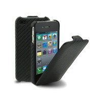 Кожаный чехол Melkco Leather Case Carbon Fiber- Black для Apple iPhone 4/4S