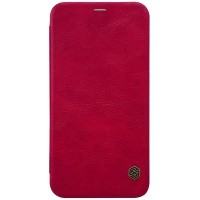 Кожаный чехол Nillkin Qin Leather Case Red для Apple iPhone X