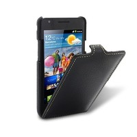 Кожаный чехол книга Melkco Leather Case Black LC для Samsung i9100 Galaxy S2