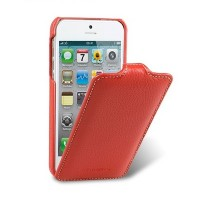 Кожаный чехол книга Melkco Leather Case Red LC для Apple iPhone 5/5S/5SE