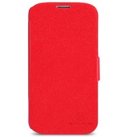 Кожаный чехол Nillkin Fresh Series Red для Samsung i9500 Galaxy S4