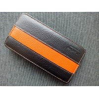 Кожаный чехол Melkco Leather Case Black/Orange LC для Sony Xperia Ion LT28h