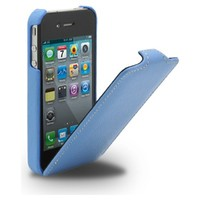 Кожаный чехол Melkco Leather Case Blue LC для Apple iPhone 4/4S