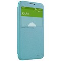 Полиуретановый чехол Nillkin Sparkle Leather Case Blue для Samsung Galaxy E5(#3)
