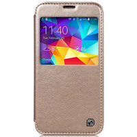 Кожаный чехол HOCO Crystal leather Case Golden для Samsung G900F Galaxy S5