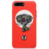 Кожаная накладка Nillkin Brocade Series Red Elephant для Apple iPhone 7 Plus/iPhone 8 Plus