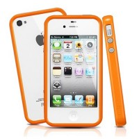 Бампер SGP Neo Hybrid 2S Pastel Series Orange для Apple iPhone 4/4S