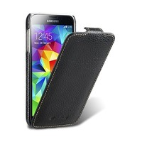 Кожаный чехол Melkco Leather Case Black LC для Samsung G800F Galaxy S5 mini