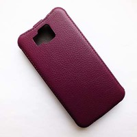Кожаный чехол Armor Case Purple для Samsung G850 Galaxy Alpha