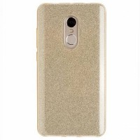 Силиконовый бампер Diamond TPU Case 1mm Gold для Xiaomi Redmi Note 4