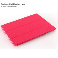 Кожаный чехол HOCO Business Litchi Series Pink для Apple iPad 4/3/2