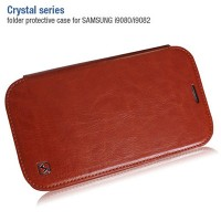 Кожаный чехол HOCO Crystal leather Case Brown для Samsung i9060 Galaxy Grand Neo