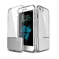 Силиконовый чехол Usams TPU Aluminium Case Cover Silver для Apple iPhone 6/6S