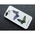 Пластиковый чехол Butterfly White Crystal для Apple iPhone 5/5S/5SE(#1)