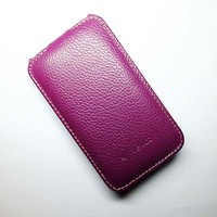 Кожаный чехол Melkco Leather Case Purple LC для HTC Desire 200