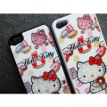 Пластиковый чехол Hello Kitty White Crystal для Apple iPhone 5/5S/5SE(#4)